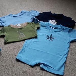 Other - 6-12 mo Boys Lot Shirts PJ's Romper